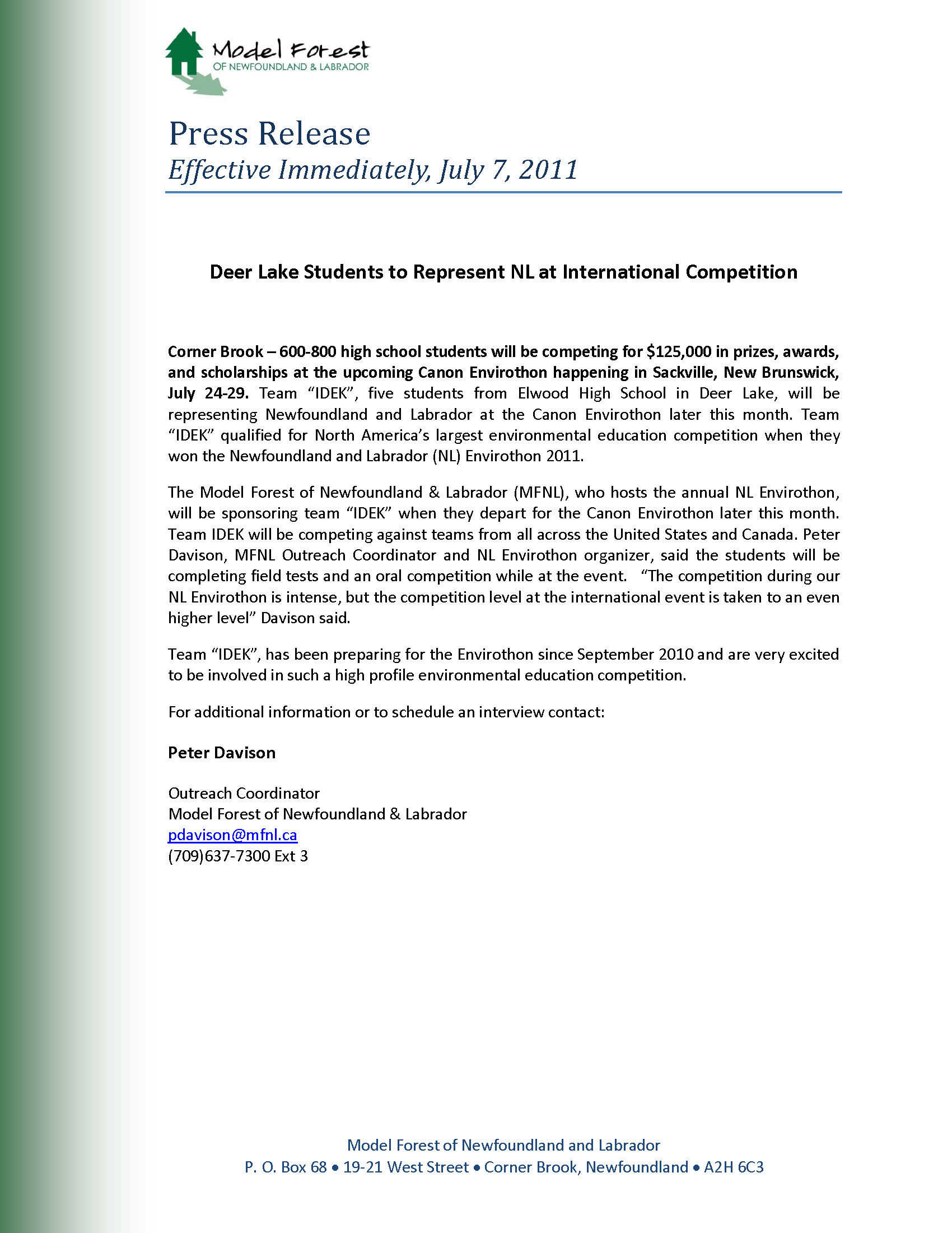 Press_Release_-_Canon_Envirothon_2011_in_New_Brunswick